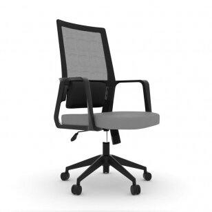 Registratūros kėdė COMFORT 10, juoda/pilka sp.