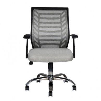 Registratūros kėdė COMFORT 02, juodos/pilkos sp. 2
