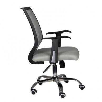 Registratūros kėdė COMFORT 02, juodos/pilkos sp. 3