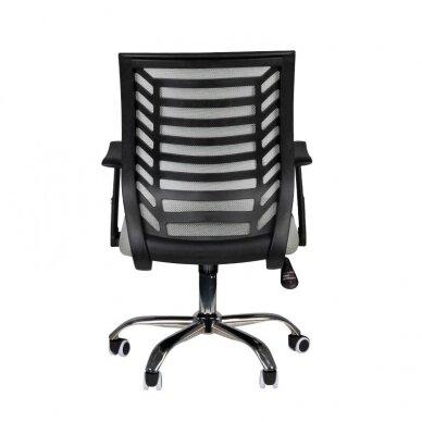 Registratūros kėdė COMFORT 02, juodos/pilkos sp. 4