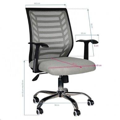 Registratūros kėdė COMFORT 02, juodos/pilkos sp. 5