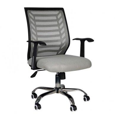 Registratūros kėdė COMFORT 02, juodos/pilkos sp.