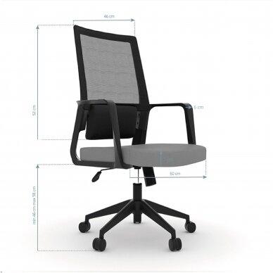 Registratūros kėdė COMFORT 10, juoda/pilka sp. 2