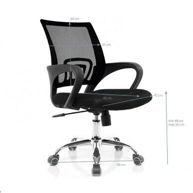 Registratūros kėdė COMFORT 66, juodos sp. 3