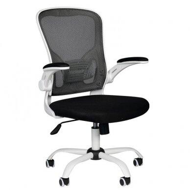 Registratūros kėdė COMFORT 73, baltos/juodos sp.
