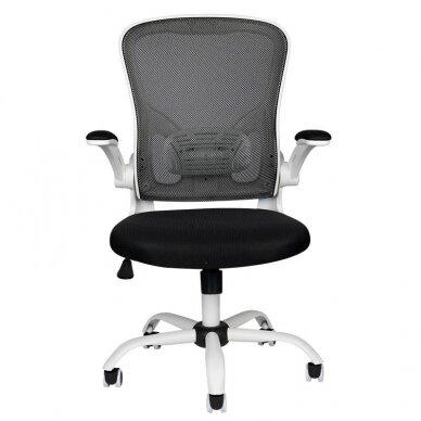 Registratūros kėdė COMFORT 73, baltos/juodos sp. 4