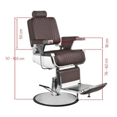 Barzdos kirpėjo kėde  ROYAL II , rudos spalvos. 5