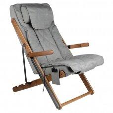 SAKURA RELAX sulankstoma kėdė su masažo funkcija, pilkos sp.