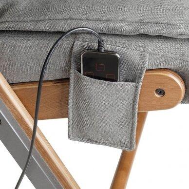 SAKURA RELAX sulankstoma kėdė su masažo funkcija, pilkos sp. 4