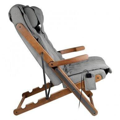SAKURA RELAX sulankstoma kėdė su masažo funkcija, pilkos sp. 5