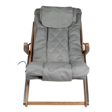 SAKURA RELAX sulankstoma kėdė su masažo funkcija, pilkos sp. 6