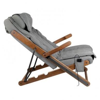 SAKURA RELAX sulankstoma kėdė su masažo funkcija, pilkos sp. 2