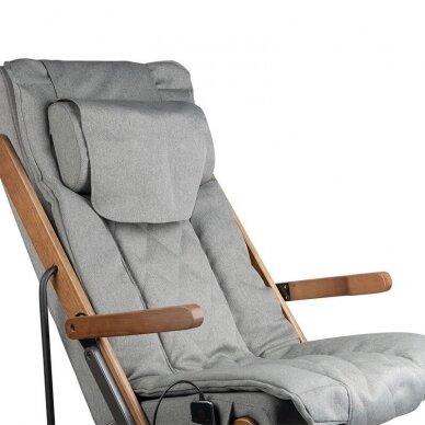 SAKURA RELAX sulankstoma kėdė su masažo funkcija, pilkos sp. 3