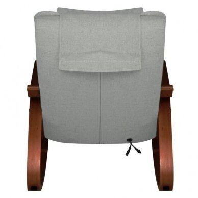 SAKURA RELAX supama kėdė su masažo funkcija, pilkos sp. 4