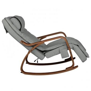 SAKURA RELAX supama kėdė su masažo funkcija, pilkos sp. 5