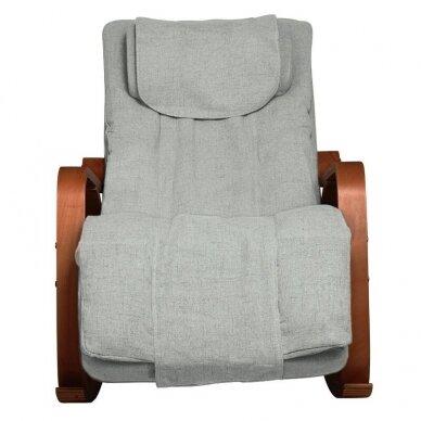 SAKURA RELAX supama kėdė su masažo funkcija, pilkos sp. 6