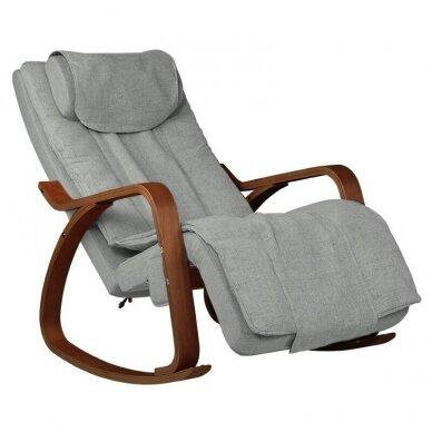 SAKURA RELAX supama kėdė su masažo funkcija, pilkos sp.