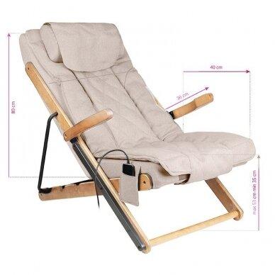 SAKURA RELAX sulankstoma kėdė su masažo funkcija, pilkos sp. 8