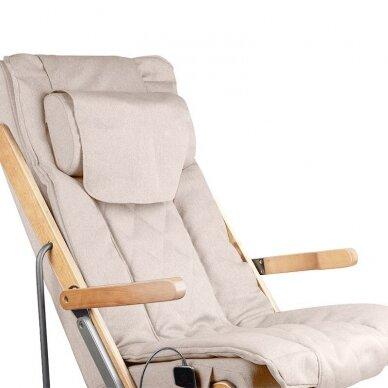 SAKURA RELAX sulankstoma kėdė su masažo funkcija, rudos sp. 4