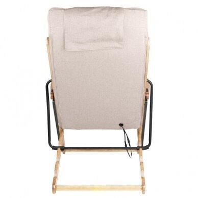 SAKURA RELAX sulankstoma kėdė su masažo funkcija, rudos sp. 5