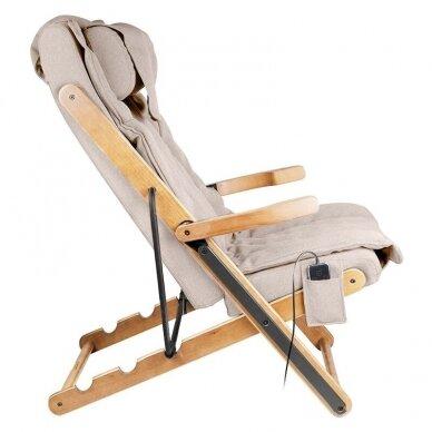SAKURA RELAX sulankstoma kėdė su masažo funkcija, rudos sp. 6