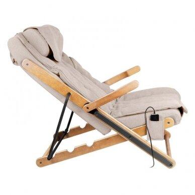 SAKURA RELAX sulankstoma kėdė su masažo funkcija, rudos sp. 8