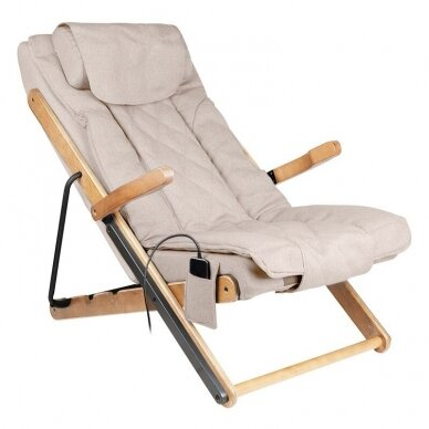 SAKURA RELAX sulankstoma kėdė su masažo funkcija, rudos sp.