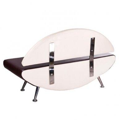 Salono laukiamojo sofa, BD-6710, kreminės/rudos sp. 2