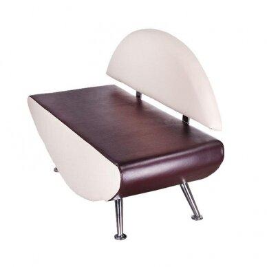 Salono laukiamojo sofa, BD-6710, kreminės/rudos sp. 3