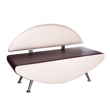 Salono laukiamojo sofa, BD-6710, kreminės/rudos sp.