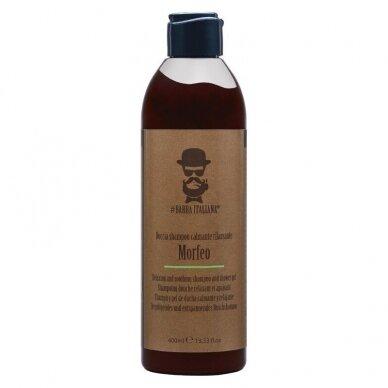 Šampūnas ir dušo gelis Barba Italiana Morfeo, ramina ir atpalaiduoja, 400ml
