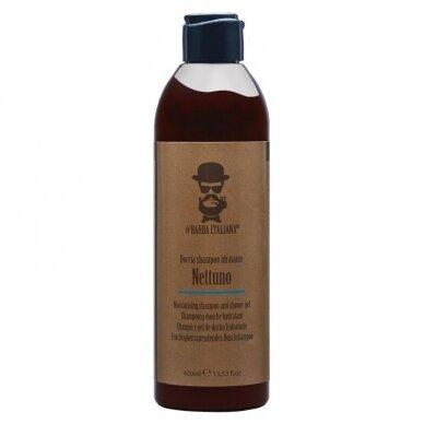 Šampūnas ir dušo gelis Barba Italiana Nettuno, drėkinamasis, 400ml