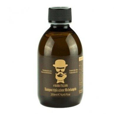 Šampūnas plaukams nuo pleiskanų Barba Italiana Tri - Action Michelangelo, 250 ml
