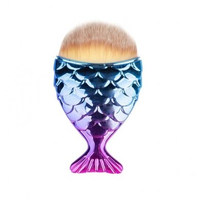 Šepetėlis nagų dulkėms valyti ŽUVYTĖ, violetinė-mėlyna sp.