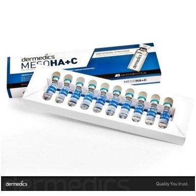 Serumas kapsulėje Dermedics Meso HA+C, 5 ml 2