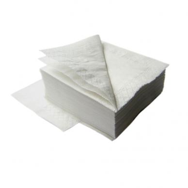 Serviravimo servetėlės, 2sl, 24x24cm, 250vnt pak., baltos sp.