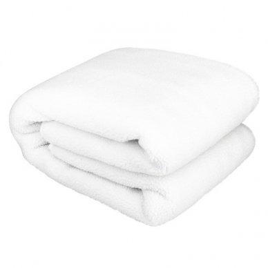 Šildanti antklodė 150x80 PREMIUM GREY POLAR, baltos sp.