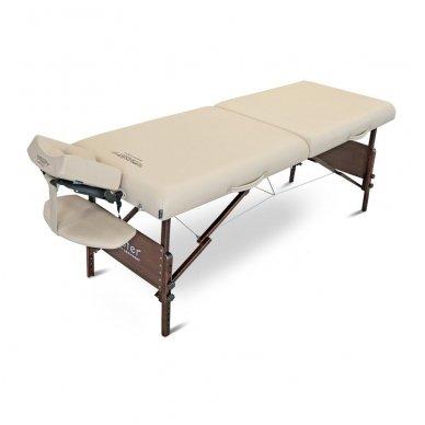 Sulankstomas masažo stalas su šildymu МОKKО, smėlio sp. 7