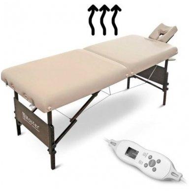 Sulankstomas masažo stalas su šildymu МОKKО, smėlio sp.