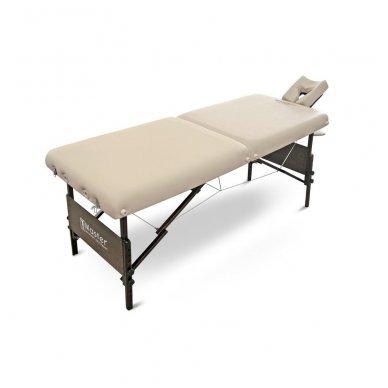 Sulankstomas masažo stalas su šildymu МОKKО, smėlio sp. 2