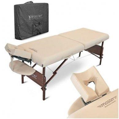 Sulankstomas masažo stalas su šildymu МОKKО, smėlio sp. 3
