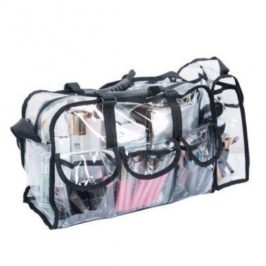 Skaidrus vinilinis kosmetikos krepšys KC-CZ02 3