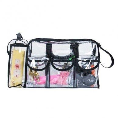 Skaidrus vinilinis kosmetikos krepšys KC-CZ02 4