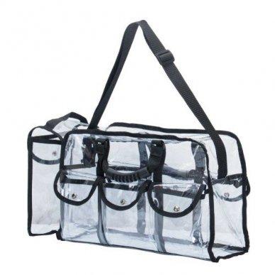 Skaidrus vinilinis kosmetikos krepšys KC-CZ02