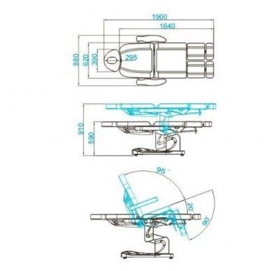 Daugiafunkcinis elektrinis krėslas-lova AZZURRO 708AS, baltos sp. 4