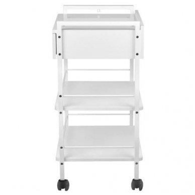 Kosmetologinis staliukas-vežimėlis, baltos sp. 2