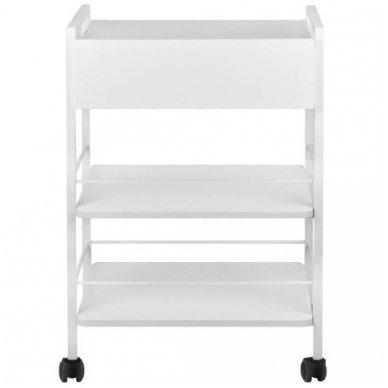 Kosmetologinis staliukas-vežimėlis, baltos sp. 3