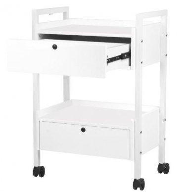 Kosmetologinis staliukas-vežimėlis TYP 1019 , baltos sp. 3