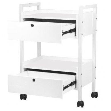Kosmetologinis staliukas-vežimėlis TYP 1019 , baltos sp. 5