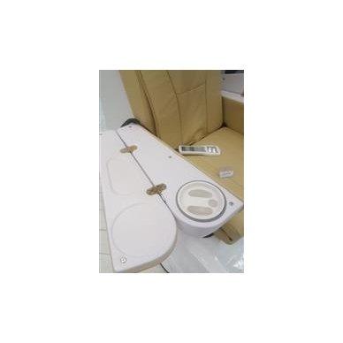 SPA pedikiūro krėslas su masažo funkcija, rudos/juodos sp. 3